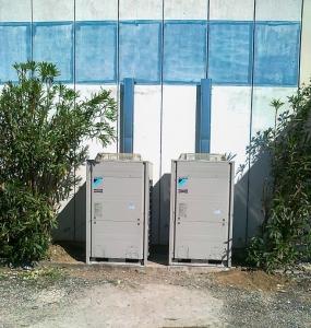 Deux groupes de pompe à chaleur air-air DAIKIN