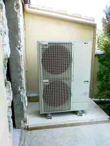 Groupe extérieur d'une pompe à chaleur Air-Eau