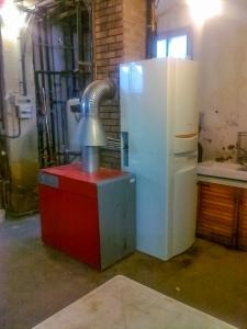 Pompe à chaleur en aquathermie avec chaudière fioul en relève