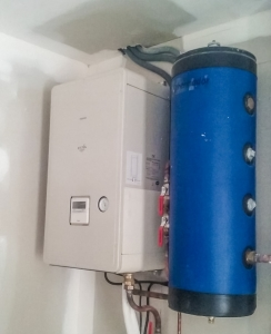 Pompe à chaleur air-eau Toshiba avec ballon tampon