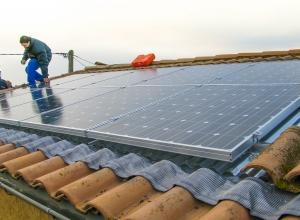 Installation solaire photovoltaïque sur bac aluminium