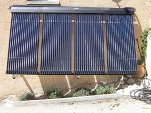 Installation d'un solaire capteur tube sur Vedène